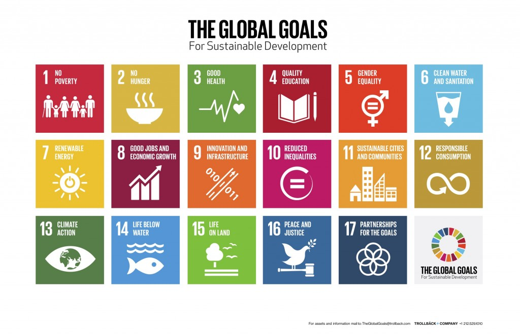 Global Goals logo and icons