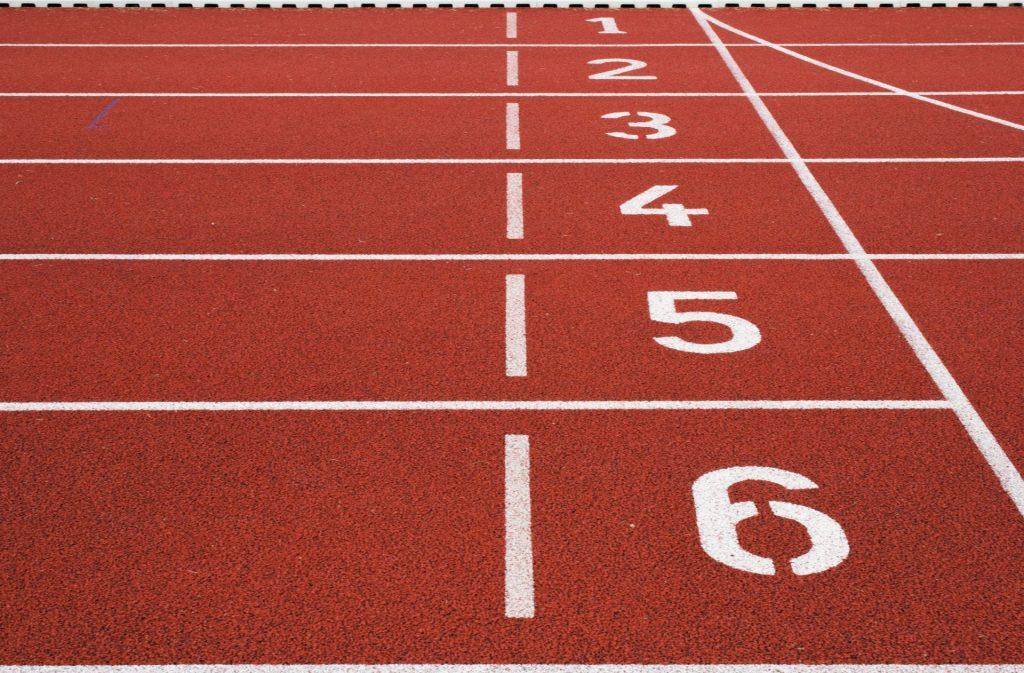 Photo of track starting line