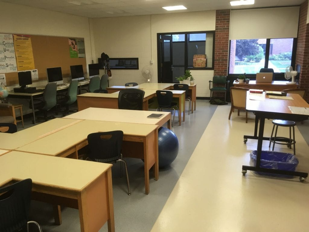 Photo of Mr. Huffman's empty classroom
